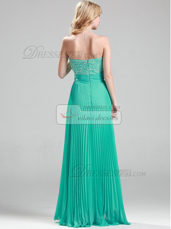 Perfect A-line Sweetheart Floor-length Sequin Beading Evening/Prom Dresses