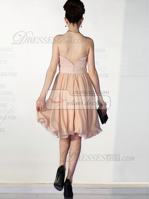 Phenomenal A-line Chiffon Knee-length Draped Cocktail/Sweet 16 Dresses