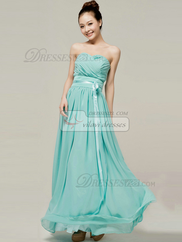 Tactile Sensation Sheath/Column Sweetheart Strapless Sashes/Ribbons Bridesmaid Dresses