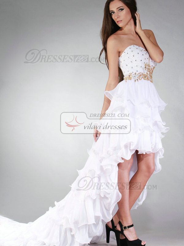 Gorgeous Princess Sweetheart Asymmetrical Cascading Ruffle Prom/Cocktail Dresses
