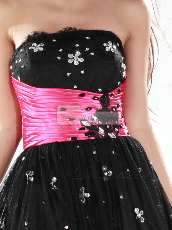 Precious A-line Tulle Short/Mini Lace Prom/Homecoming Dresses