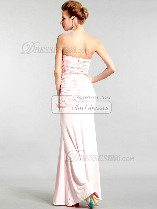 Graceful Sheath/Column Chiffon Tube Top Evening/Prom Dresses