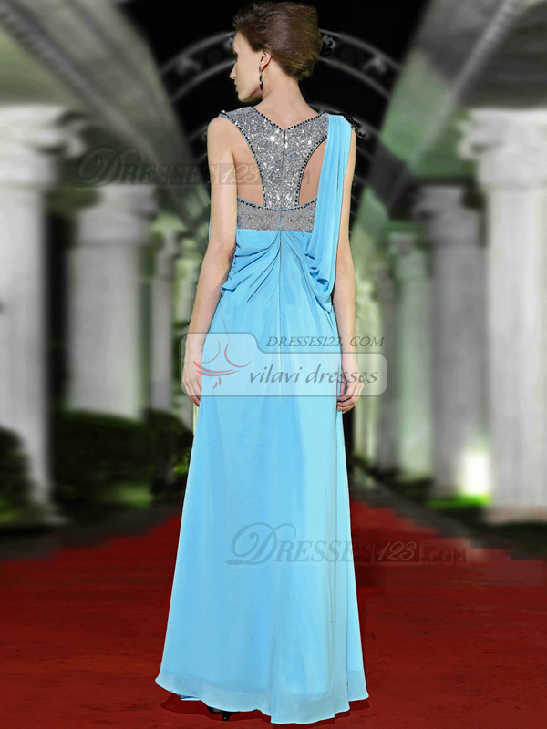 Sexy Sheath/Column Straps Sweep Embroidery Prom/Evening Dresses