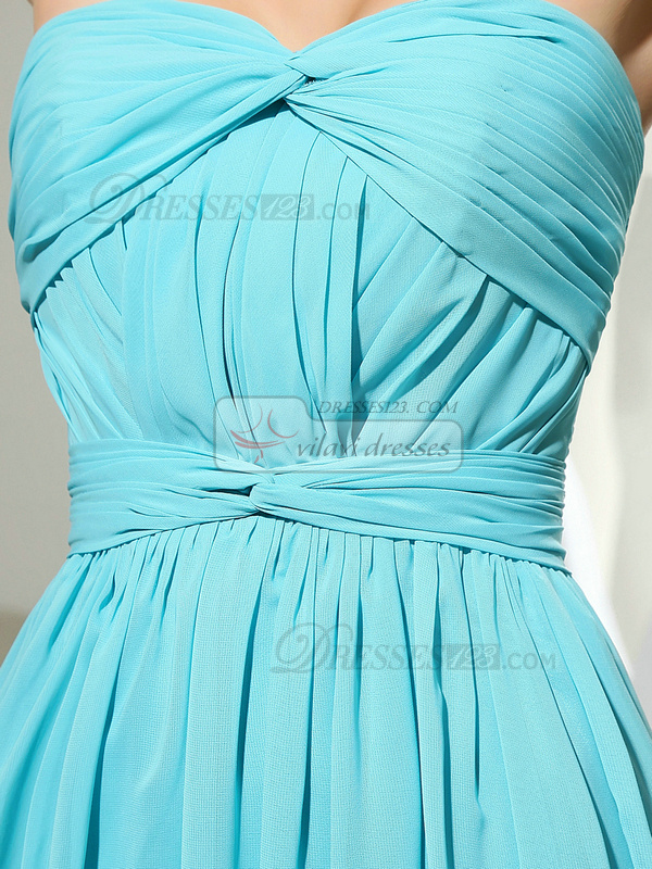 Remarkable A-line Chiffon Court Train Draped Evening Dresses
