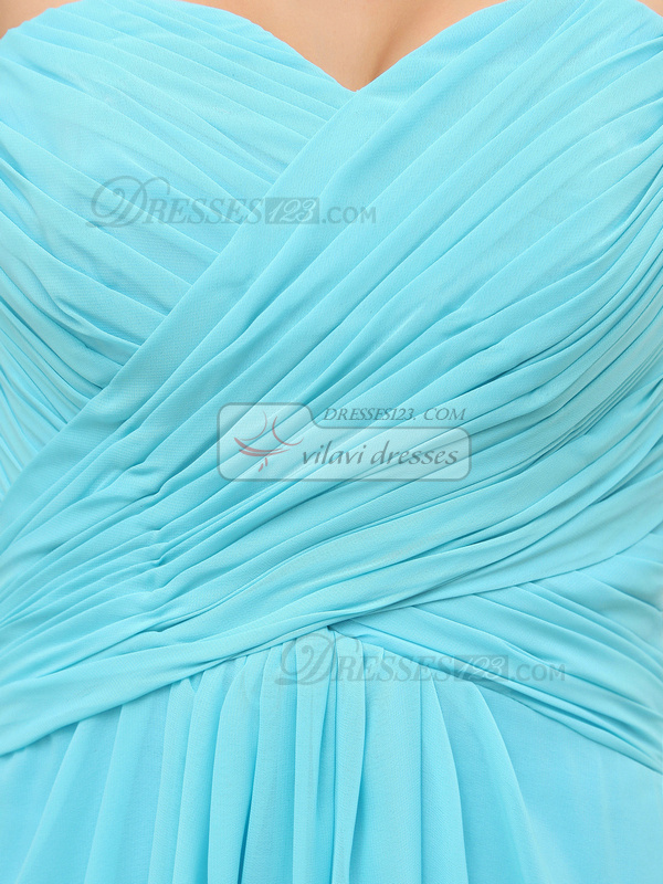 Brilliant Sheath/Column Sweetheart Floor-length Draped Evening Dresses