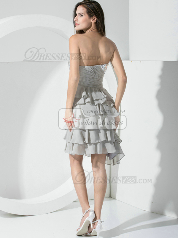 Beautiful A-line Chiffon Sweetheart Beading Prom/Cocktail Dresses