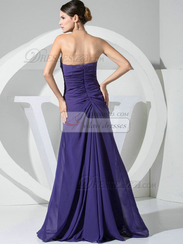 Gorgeous A-line Chiffon Tube Top Flower Bridesmaid Dresses