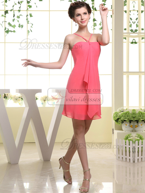 Happiness Promise Sheath Chiffon Tube Top Bridesmaid Dresses