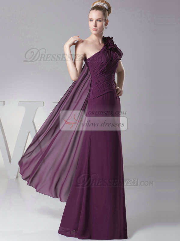 Phenomenal Sheath/Column One shoulder Floor-length Flower Evening Dresses