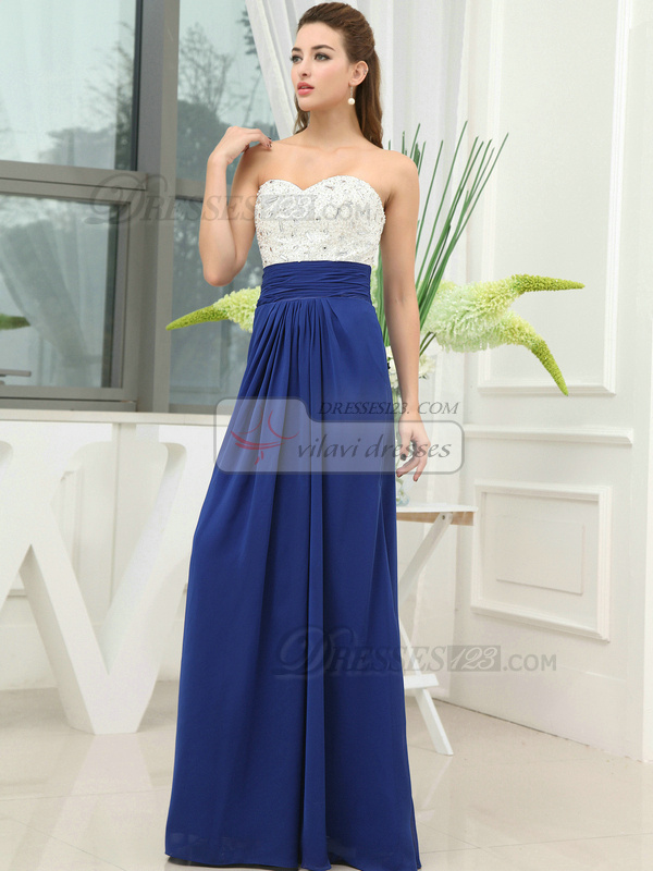 Glamorous Sheath/Column Elastic Silk-like Satin Strapless Floor-length Evening Dresses