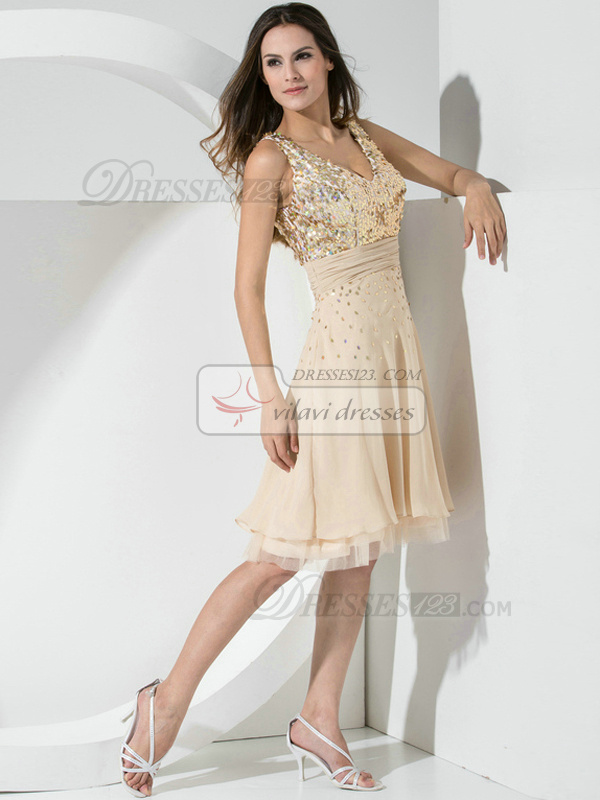 Appealing A-line Lace Straps Beading Prom/Cocktail Dresses