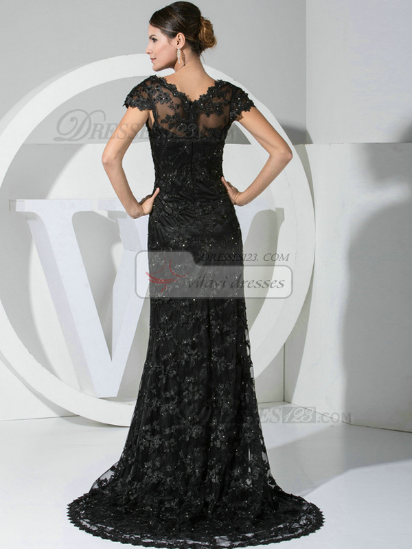 Astounding Mermaid/Trumpet Lace Straps Embroidery Evening Dresses