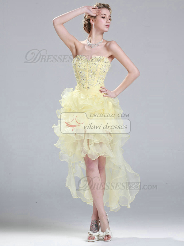 Graceful Princess Sweetheart Short/Mini Beading Organza Prom Dresses