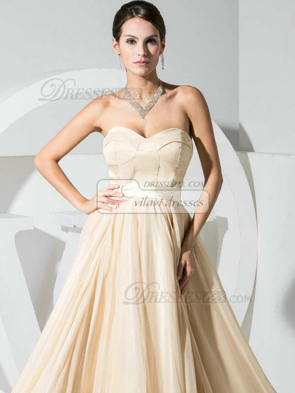 Amazing A-line Organza Sweetheart Sashes/Ribbons Evening Dresses