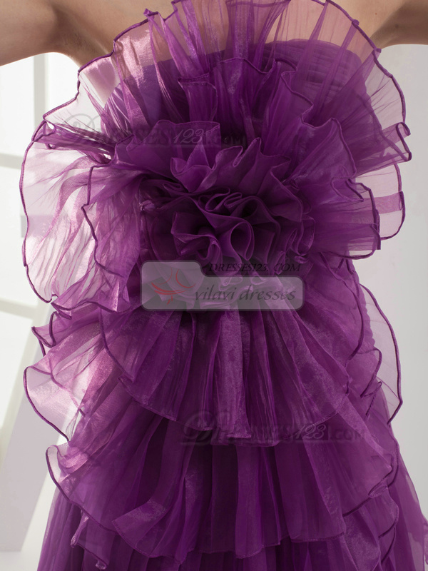 Perfect Princess Organza Scalloped-edge Flower Evening/Prom Dresses