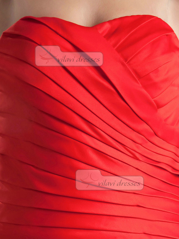 Mermaid Sweetheart Floor-length Satin Tiered Evening Dresses