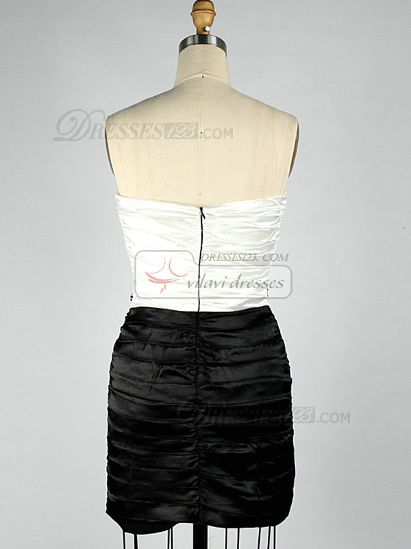 Gorgeous Sheath/Column Tube Top Short/Mini Tiered Cocktail/Homecoming Dresses