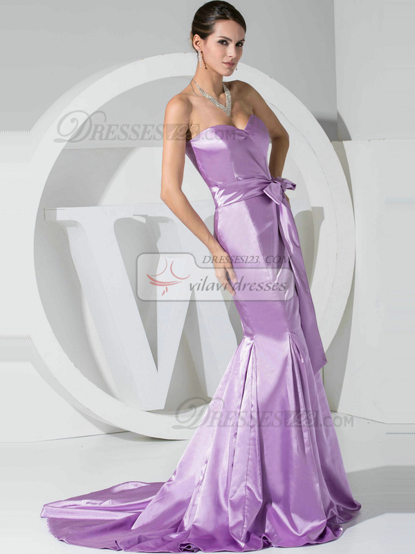 Intelligent Mermaid/Trumpet Sweetheart Court Train Bowknot Prom Dresses