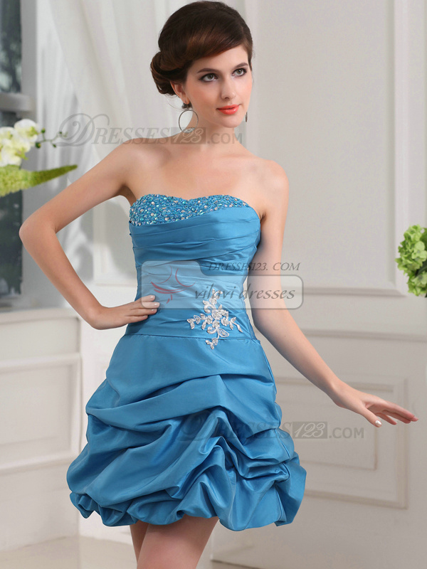 Lovely Princess Taffeta Short/Mini Pick-Ups Cocktail Dresses