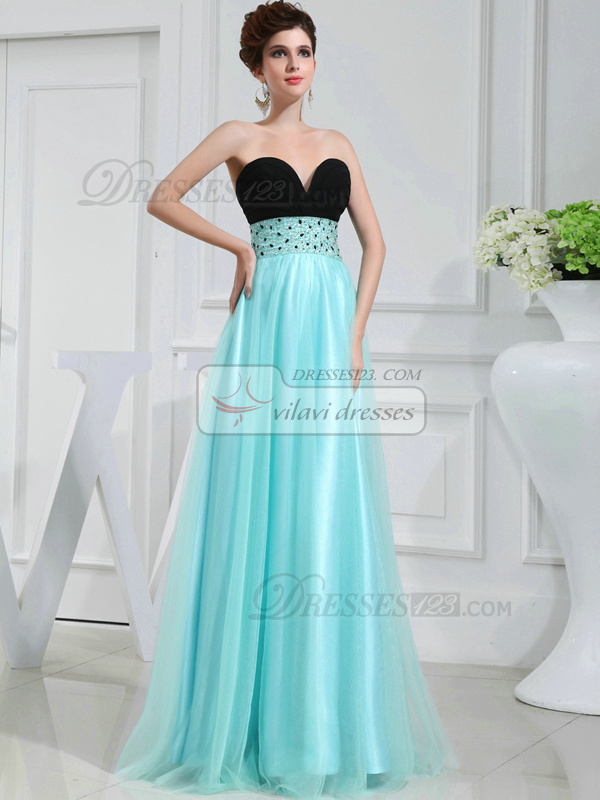 Impressive A-line Tulle Sweetheart Draped Evening Dresses