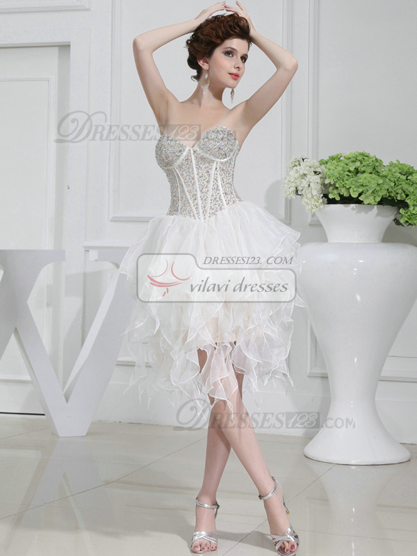 Adorable Princess Tulle Sweetheart Tea-length Cocktail Dresses