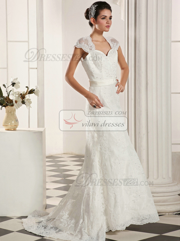 Fantastic Mermaid Lace Straps Sweep Sequin Wedding Dresses