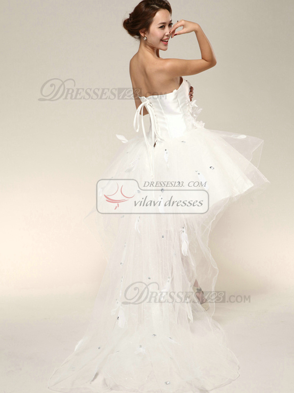 Appealing Ball Gown Asymmetrical Train Wedding Dresses