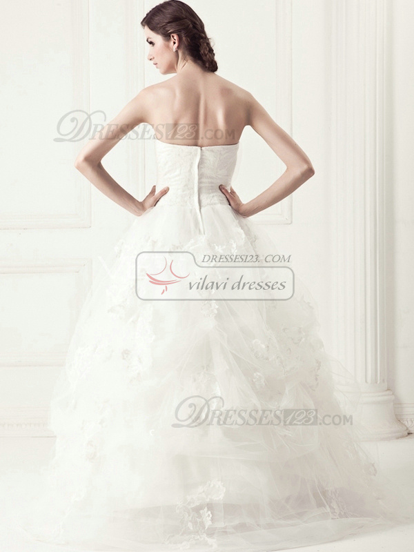 Appealing Ball Gown Tulle Sweep Appliques Wedding Dresses
