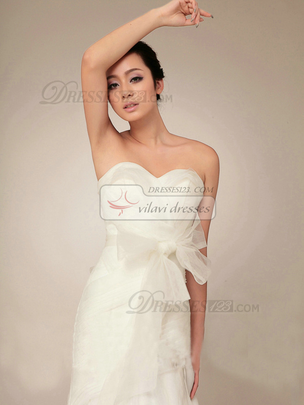 Appealing Mermaid Sweetheart Sweep Ribbons Wedding Dresses