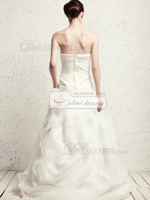 Appealing Princess Tube Top Sweep Pick-Ups Wedding Dresses