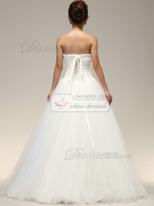 Magnificent A-line Tube Top Appliques Wedding Dresses
