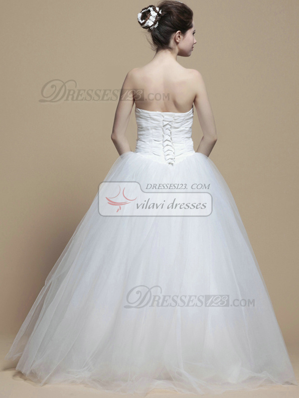 Perfect Ball Gown Sweetheart Floor-length Crystal Wedding Dresses