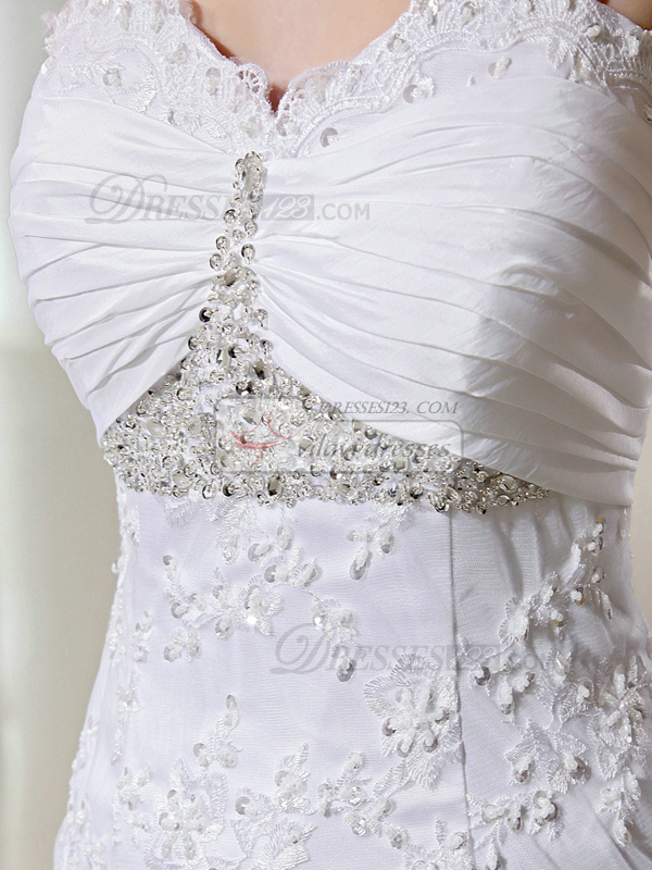 Marvelous Mermaid Lace Sweetheart Beading Wedding Dresses