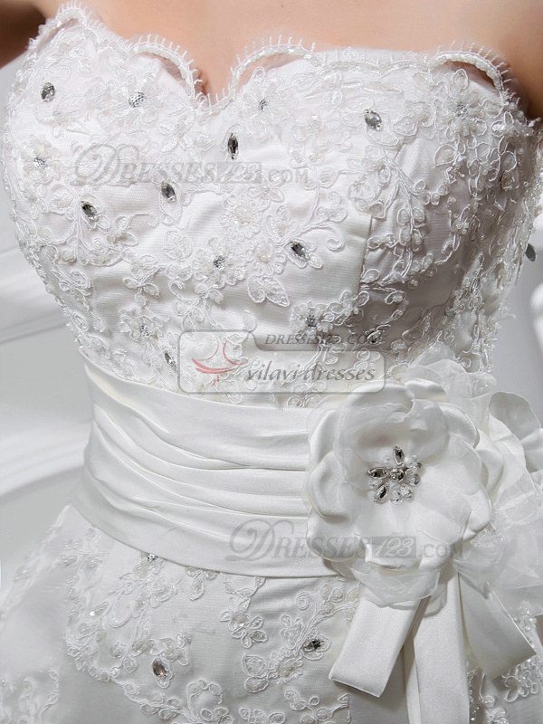 Elegant Mermaid Lace Sweetheart Flower Wedding Dresses