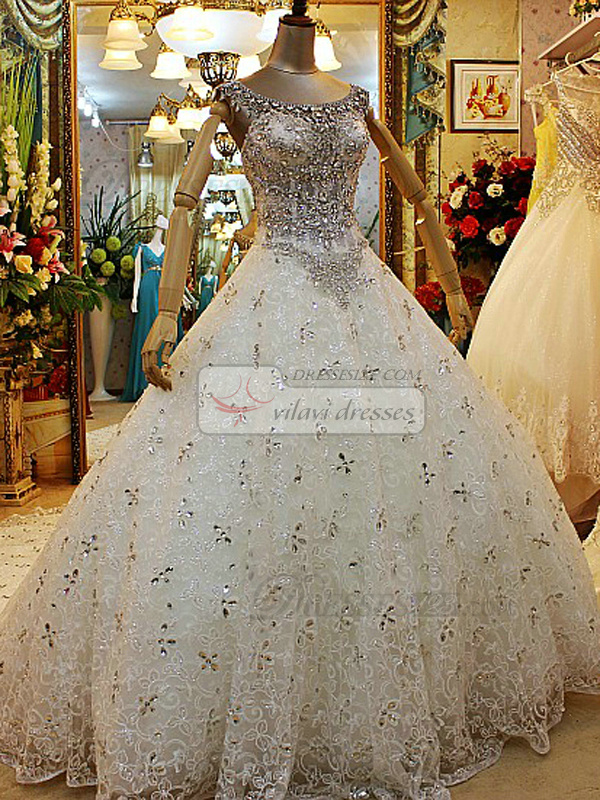 Big Ball Gown Wedding Dresses With Bling : Wedding dresses with bling and straps ball gown crystals big