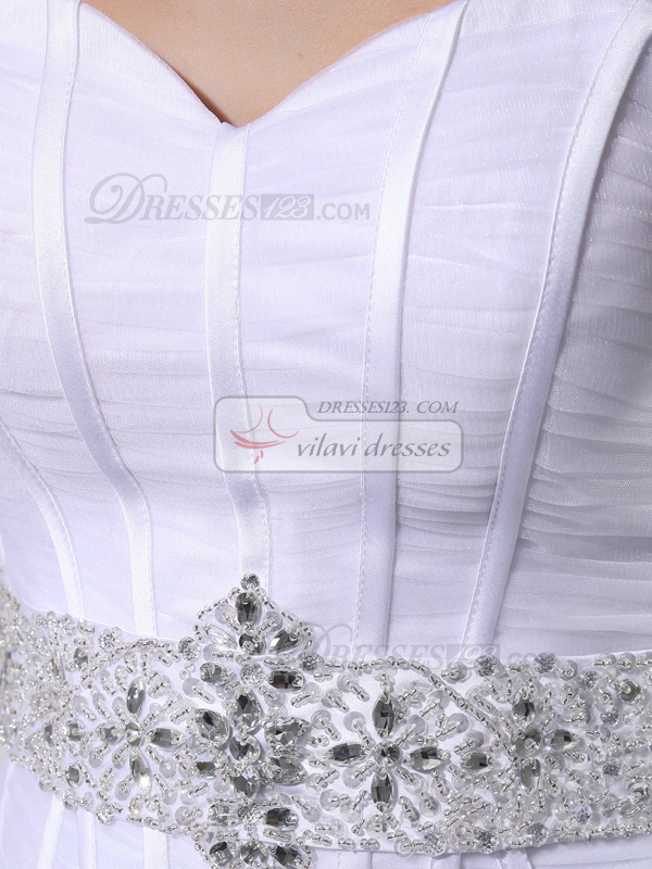 Outstanding Princess Organza Sweetheart Bowknot Wedding Dresses