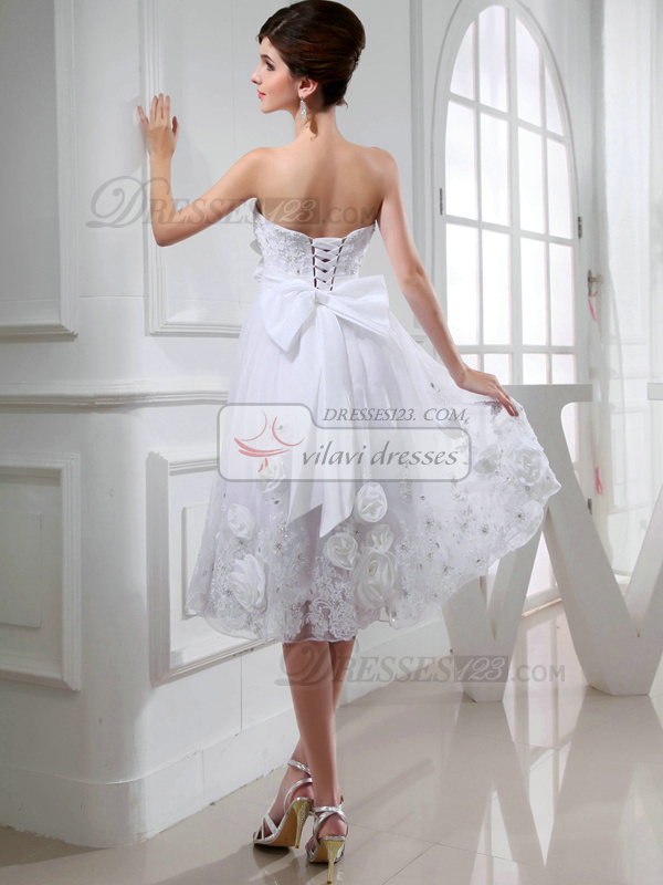 Luxurious A-line Tulle Tube Top Bowknot Wedding Dresses