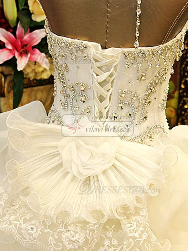 Princess jewelry halter crystals and rhinestones bodice for Jewelry for halter wedding dress