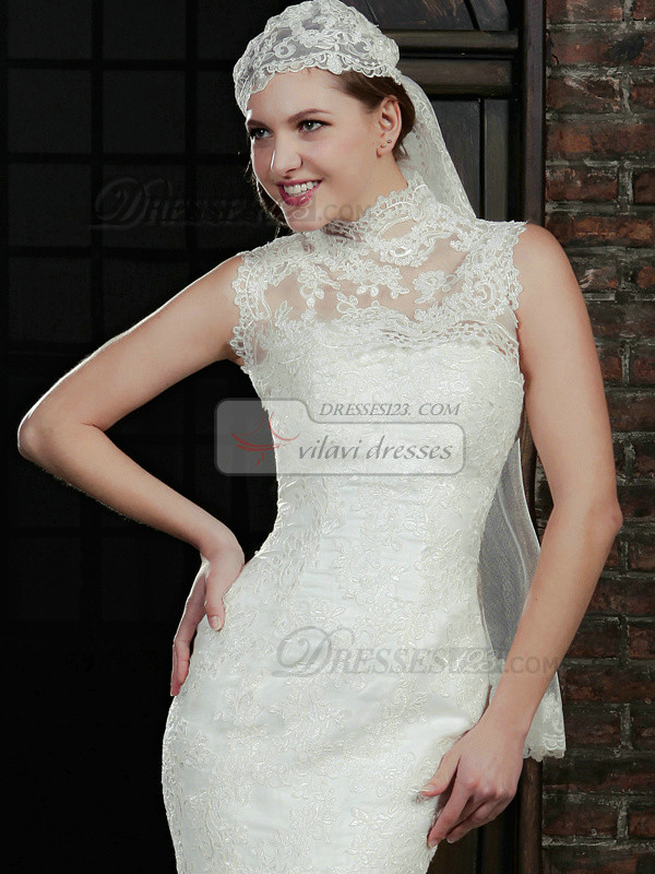 Sexy High Neck Lace Wedding Shawl/Wedding Wrap