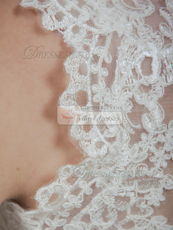 Sexy High Neck Lace Wedding Shawl/Wedding Wrap Size 2 And Size 4