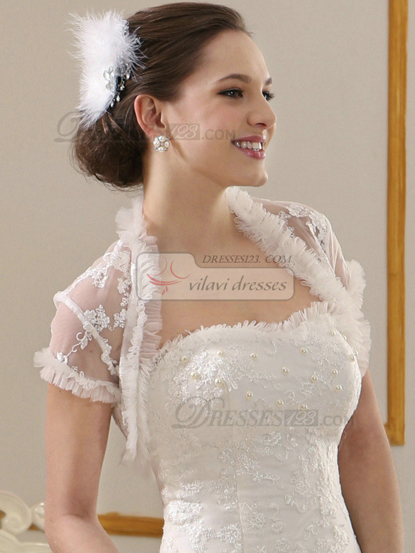 Impressive Lace Open Front Bridal Jacket/Wedding Wrap