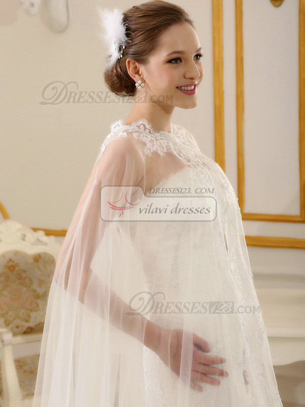 Marvelous Lace Open Front Wedding Shawl/Wedding Wrap