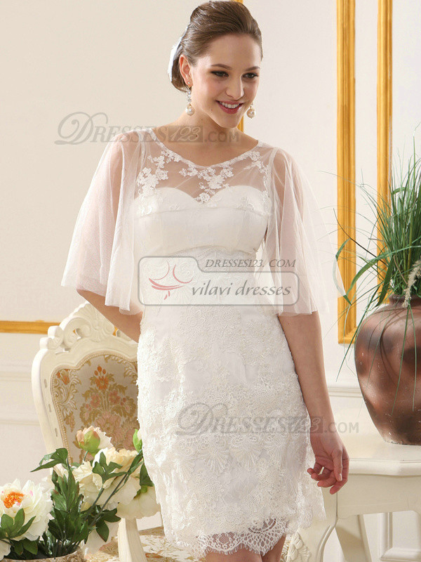 Phenomenal Lace Round Brought Bridal Jacket/Wedding Wrap Size 2 And Size 4