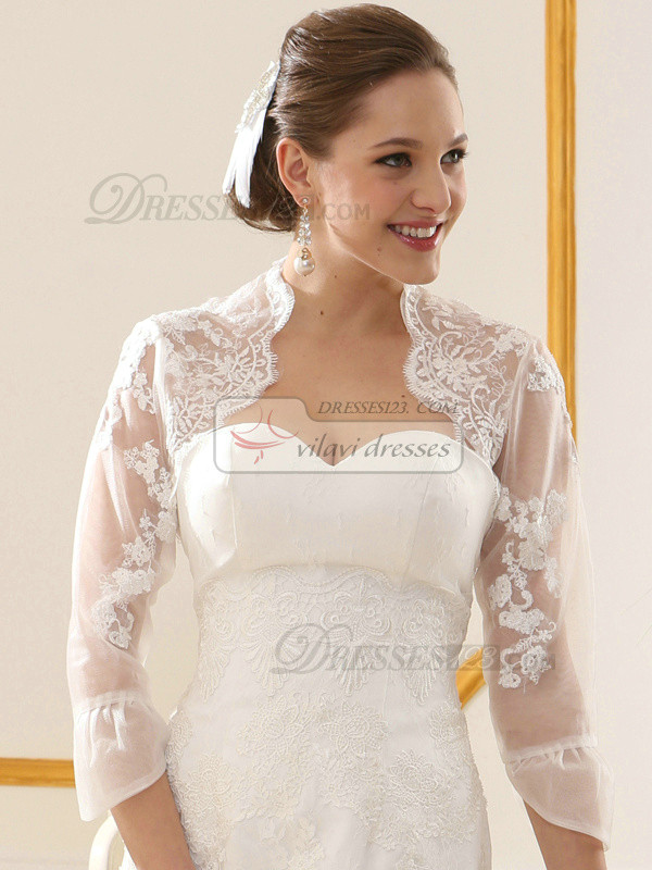Remarkable Lace High neck Bridal Jacket/Wedding Wrap