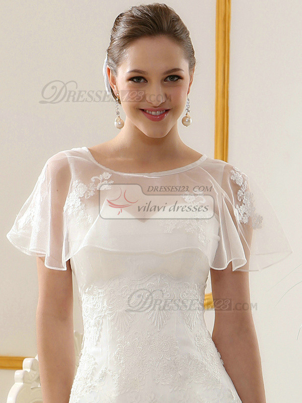 Stunning Lace Round Brought Wedding Shawl/Wedding Wrap