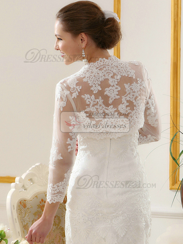 Terrific Lace Open Front Bridal Jacket/Wedding Wrap